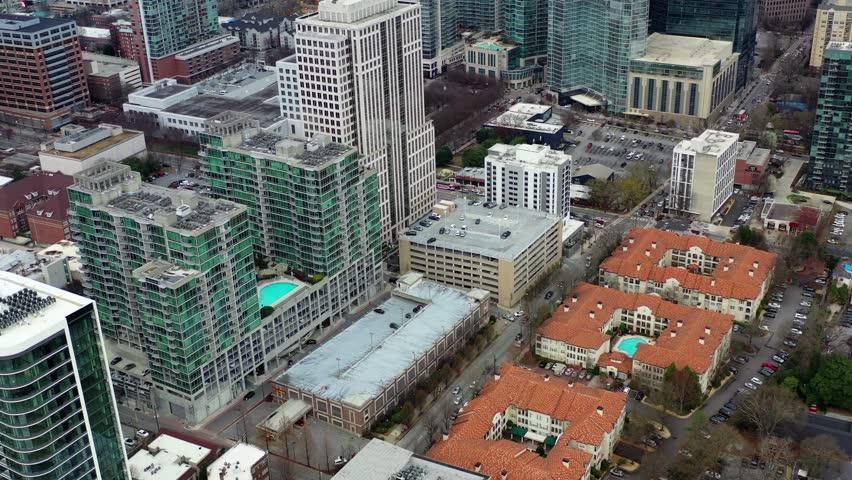 Atlanta, Georgia / USA - March 1 2019 : Aerial of the Sights and Landmarks in Downtown Atlanta, Georgia #1026514397