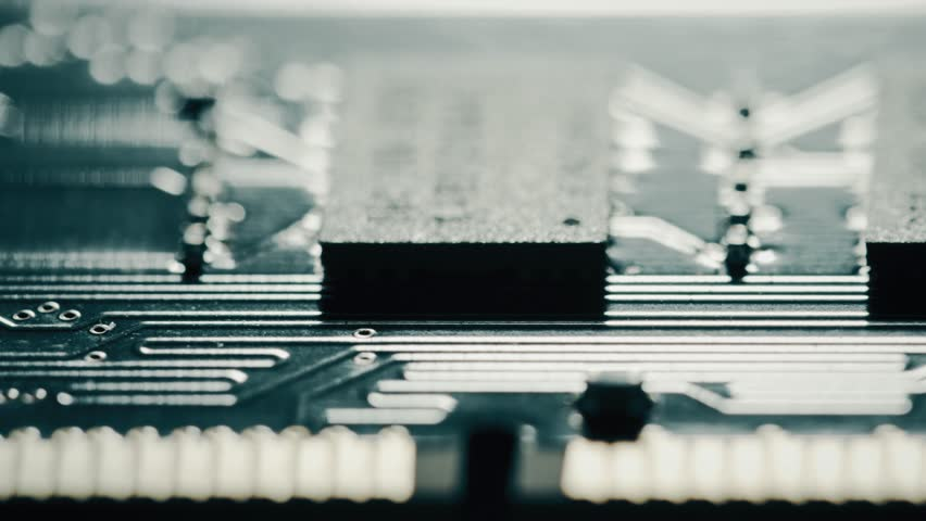 RAM or random access memory chipset, macro dolly. Shot or Red camera Royalty-Free Stock Footage #1026623765