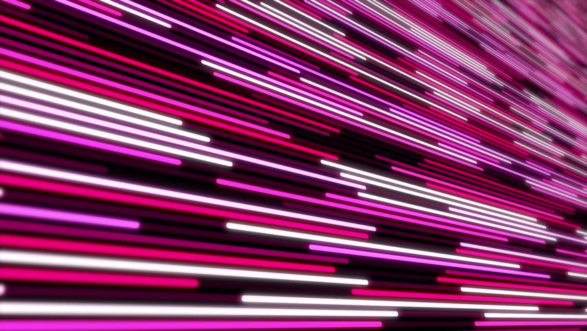 Motion graphics abstract background, animation of moving stripes and glowing light rays and rows of pink and magenta color.   Shutterstock HD Video #1026694319