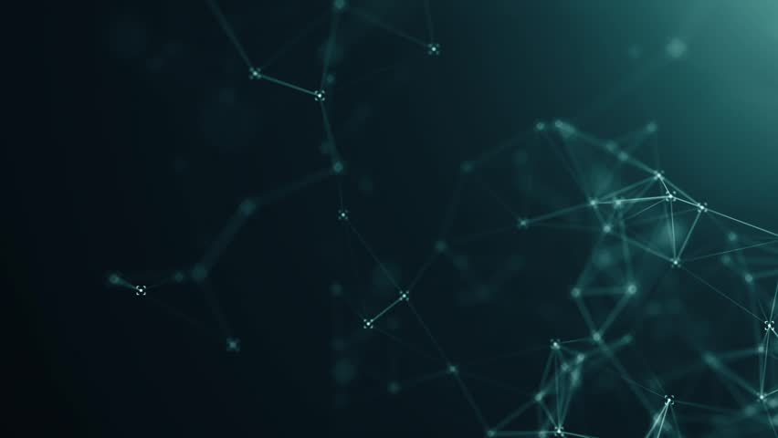 Abstract background with plexus network as data complex. Animation of seamless loop. | Shutterstock HD Video #1026707834