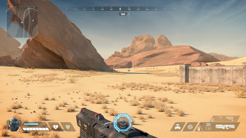 Fake Sci-Fi First Person Shooter. 3D Game | Shutterstock HD Video #1026719237