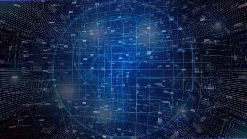 Artificial intelligence concept in a futuristic background   Shutterstock HD Video #1026783743