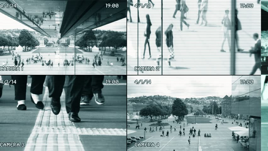 Surveillance Security Camera Monitor View CCTV Split-Screen Background Royalty-Free Stock Footage #1026818366