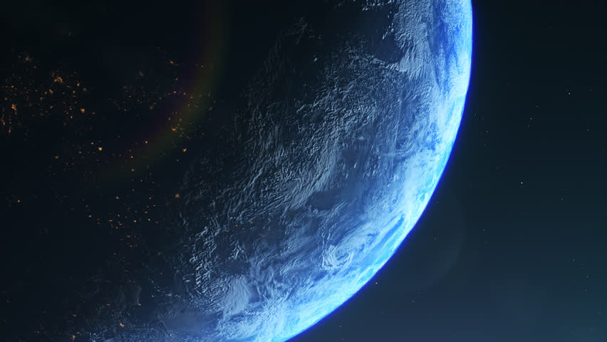 Amzanig Atmospheric Look of Planet Earth. Closeup. 4K. Great view. Amzing quality. Ready footage for the movie.