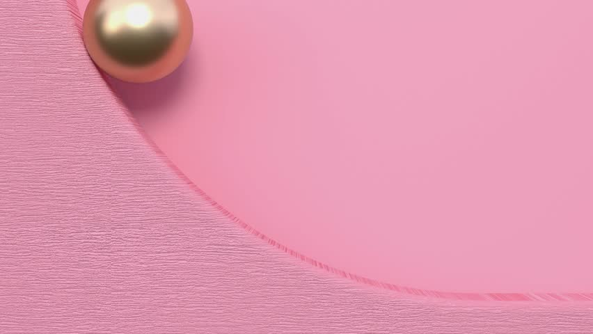 Flat lay scene pink gold metallic minimal abstract geometric background 3d rendering motion | Shutterstock HD Video #1026868148