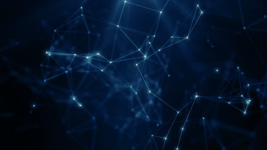 Plexus abstract network business technology science background loop   Shutterstock HD Video #1026872402