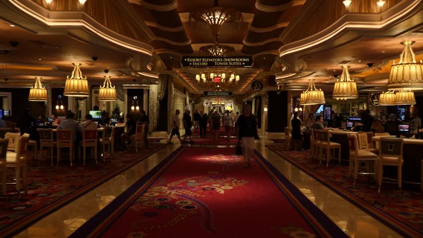 USA, Nevada / Las Vegas - Feb 11 2019: People Playing Slot Machine In A Casino Hotel In Las Vegas