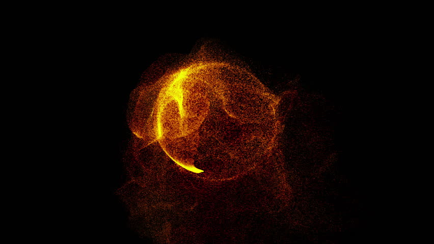 Explosion with particles around sphere atom science technology, energy ball sphere ball, abstract animated motion graphic