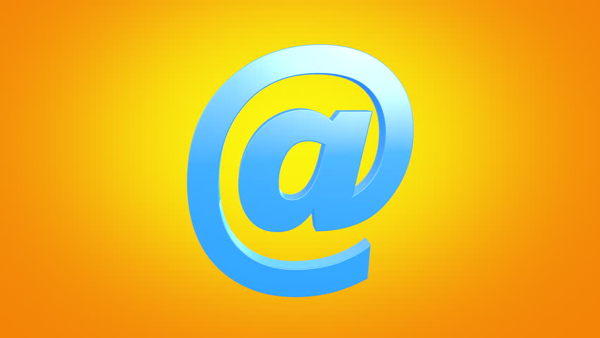 3D mail icon animated on orange gradient background seamless loop. 4k. | Shutterstock HD Video #1026921230