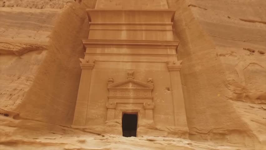 "The historical complex ""Mada'in Saleh"" (Nabataean kingdom) is located in the north-west of Saudi Arabia (El Madina)"