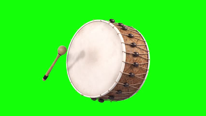 Ramadan drum playing animation green screen isolated 3d render  | Shutterstock HD Video #1026946037