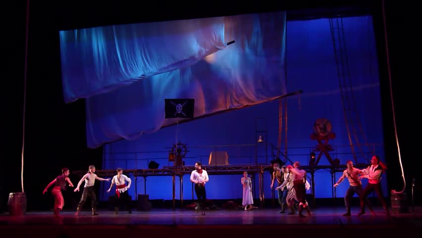DNIPRO, UKRAINE - MARCH 17, 2019: Classical ballet Corsair performed by members of the Dnipro Opera and Ballet Theatre. #1027004807