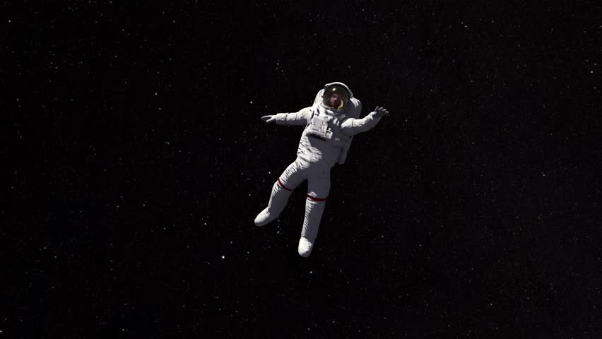 Astronaut Lost In Space 3d Stock Footage Video 100 Royalty Free 1027012739 Shutterstock