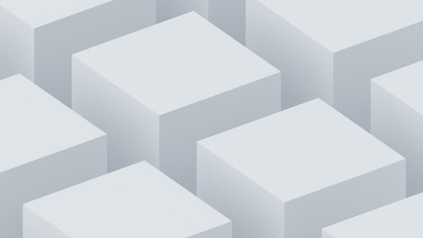 Abstract 3d render, rotating cubes, modern animation, geometric background, motion design, 4k seamless looped video | Shutterstock HD Video #1027046354