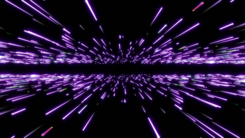 Abstract radial lines geometric background. Space Travel Through Stars Trails. Background Futuristic with Neon Lights. Abstract background with glowing stripes and lines. Digital Design Concept.  | Shutterstock HD Video #1027064738
