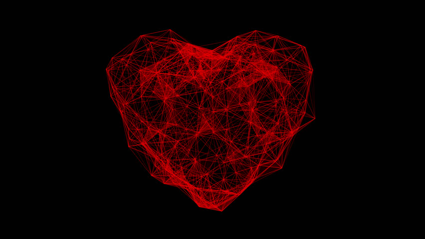 Digital heart beating animation. Futuristic heartbeat seamless loop. 4k technology concept with alpha channel. | Shutterstock HD Video #1027101266