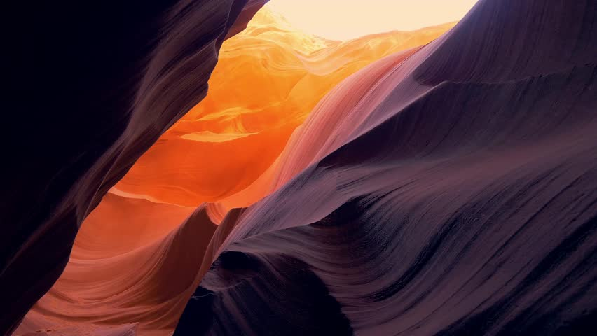 Lower Antelope Canyon in Arizona - most beautiful place in the desert | Shutterstock HD Video #1027145744