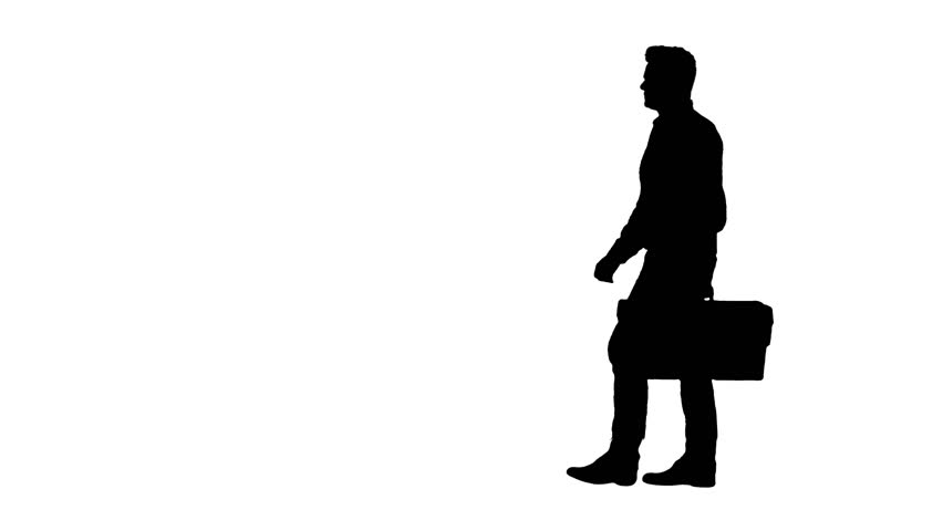 Silhouette Professional repairman concept. Handyman walking with tool case.   Shutterstock HD Video #1027166675