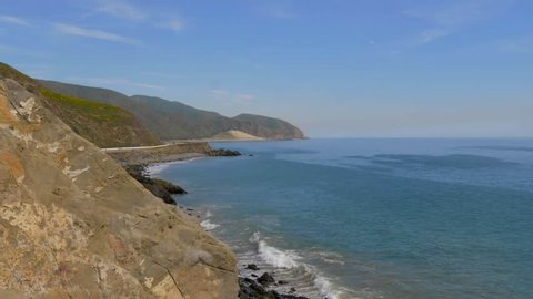 Pacific Coast at Malibu - aerial view - travel photography