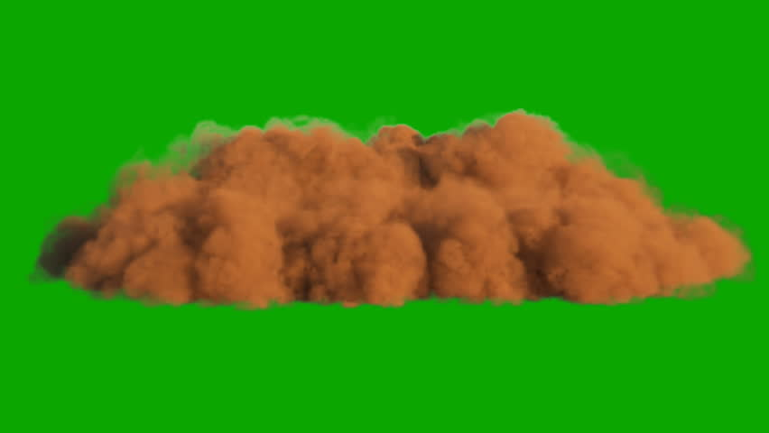 Sandstorm in the desert in front of a green screen. | Shutterstock HD Video #1027235456