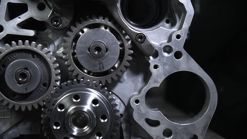 Parts from the internal combustion engine | Shutterstock HD Video #1027310420