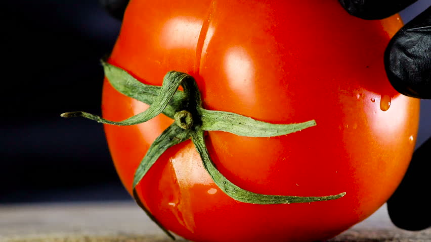 Tomato cutting closeup Royalty-Free Stock Footage #1027322462