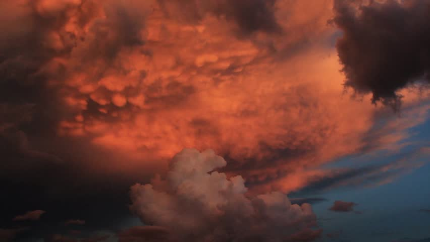 A powerful and colorful monsoon storm brews in the Southwest. | Shutterstock HD Video #1027351958