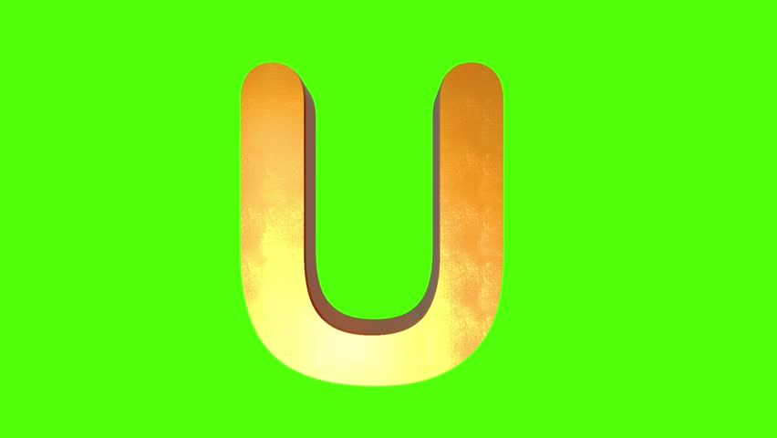 Gold Alphabet Letter Animation on green screen | Shutterstock HD Video #1027367804