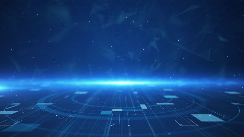 Digital technology plexus lines background is a spectacular motion graphics background. High-tech HUD grid video, blue news studio background, high-tech digital product promotion, corporate promotion. Royalty-Free Stock Footage #1027427153