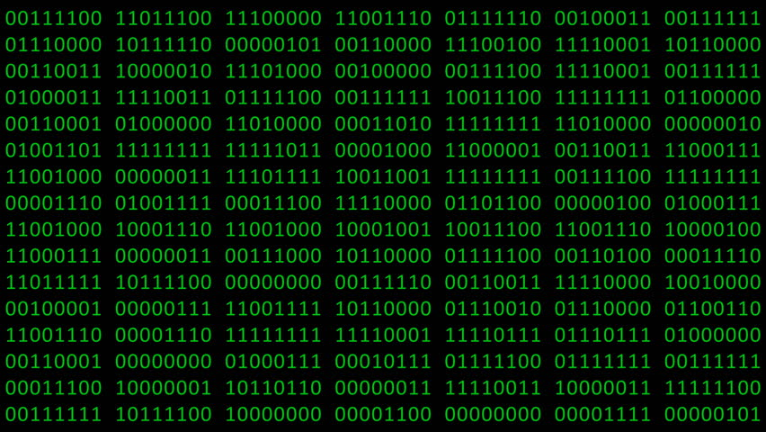 Binary code background with digits moving on screen. Algorithm binary, data code, decryption and encoding, row matrix seamless loop abstract background. | Shutterstock HD Video #1027518323