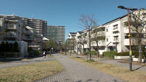 TAMA CITY,  TOKYO,  JAPAN - CIRCA MAY 2019 : Scenery of RESIDENTIAL AREA in TAMA CITY.