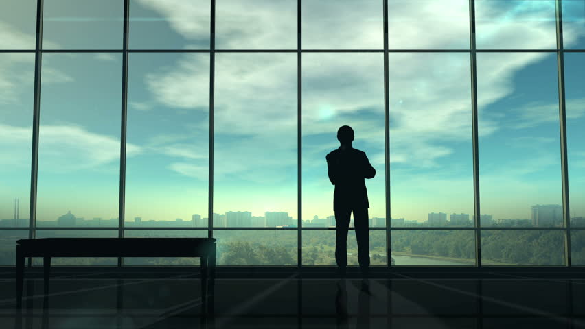 Silhouette of man corporate infographics | Shutterstock HD Video #1027551929