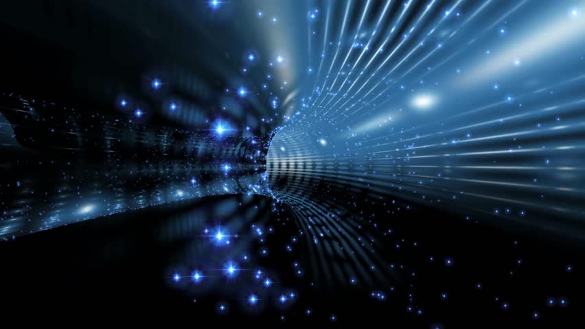 Animation - Blue Flare Tunnel Remake Motion Background #1027558175