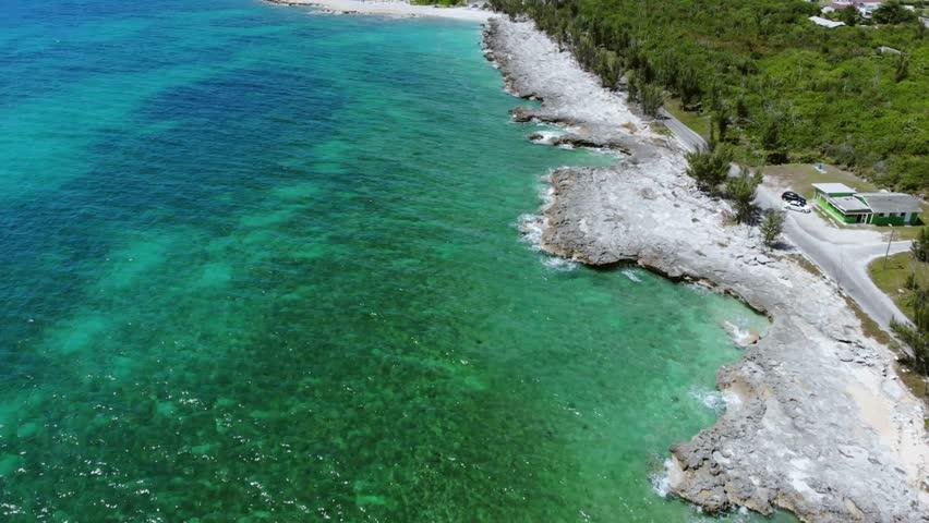 Pinders Point Grand Bahama Bahamas Light House Shore | Shutterstock HD Video #1027569353