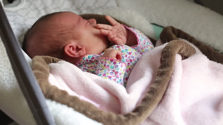 Newborn Cute Baby Girl Infant Stock Footage Video 100 Royalty Free 1027585508 Shutterstock