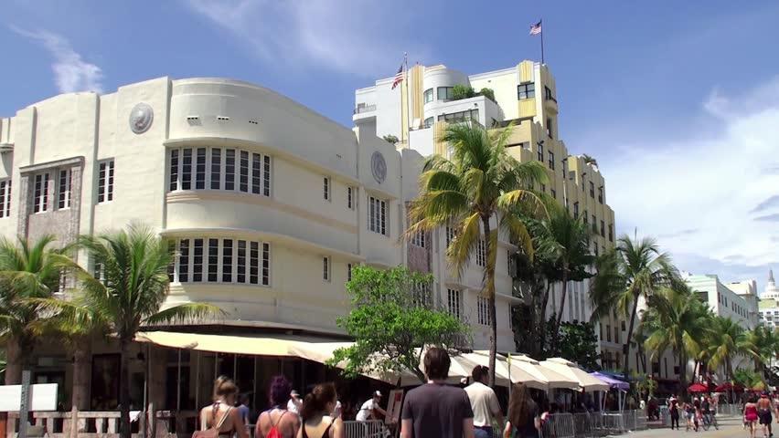 MIAMI BEACH - APRIL 07: Cardozo hotel in the Miami Beach Art Deco District (Ocean Drive aria). April 07, 2015 in Miami Beach, Florida, USA