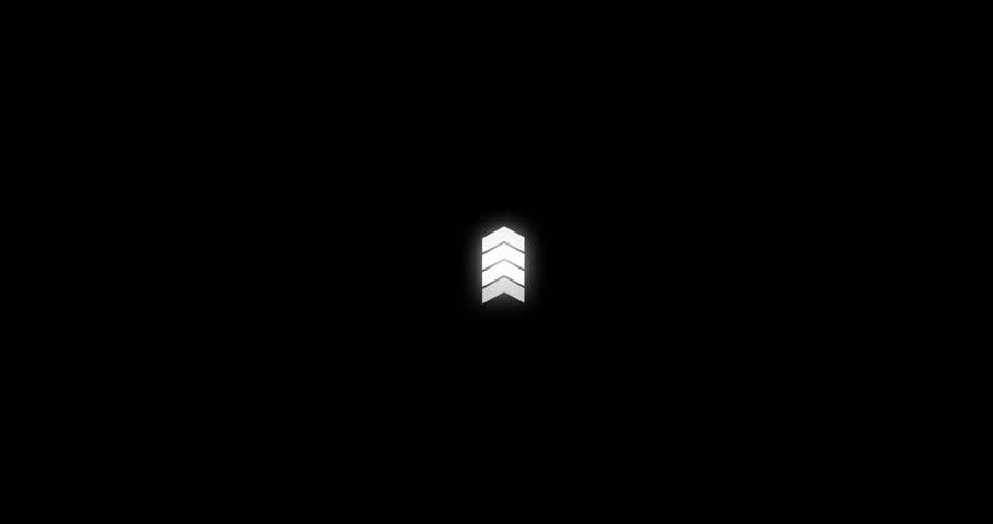 Animated arrows, Concept of business success, upward animation with black png background