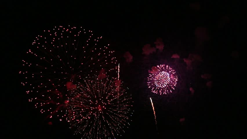 Fireworks display is a typical summer scene in Japan. | Shutterstock HD Video #1027632887