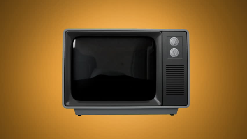 Front view of an old television showing a video of retro gold pattern | Shutterstock HD Video #1027640222