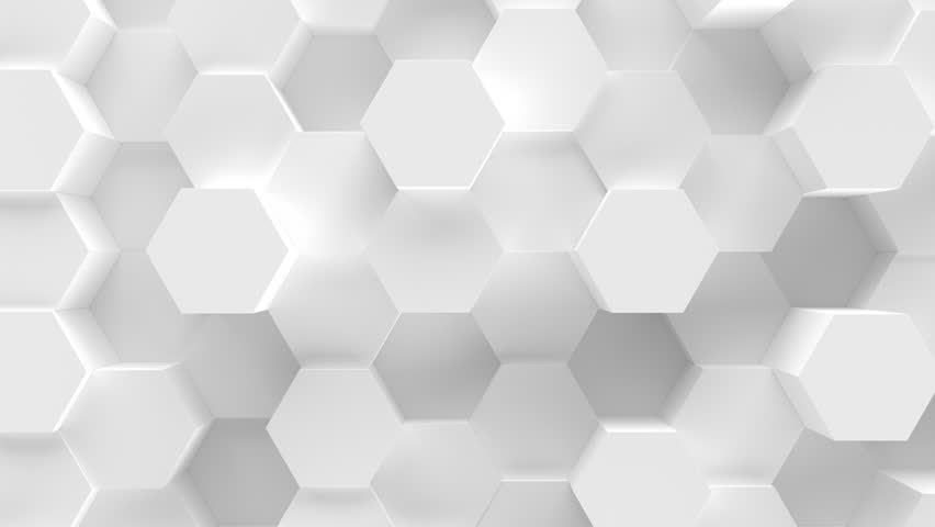 Abstract Honeycomb Background Loop. Bright, minimal, clean, moving hexagonal grid wall with shadows. Loopable 4K UHD Animation. | Shutterstock HD Video #1027653374