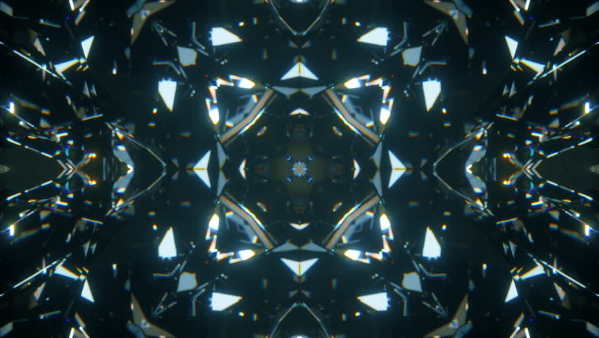 Sparkling abstract rotating diamond macro background with kaleidoscope effect. Seamless loop 4k cg 3d animation | Shutterstock HD Video #1027657658