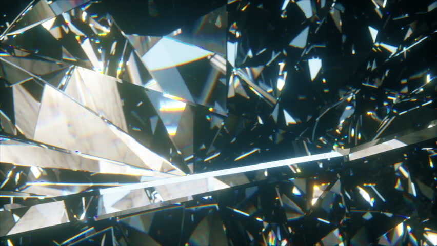 Beautiful slowly rotating diamond. Seamless loop 4k cg 3d animation, nice looping abstract background. | Shutterstock HD Video #1027657664
