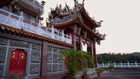 Hongludi Nanshan Fude Temple in Taipei, Taiwan, China - December 2018
