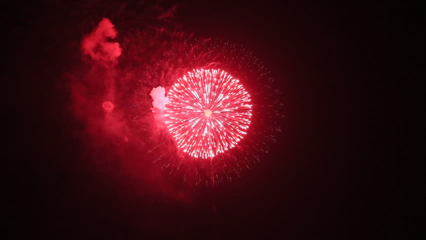 Fireworks display is a typical summer scene in Japan. | Shutterstock HD Video #1027686677