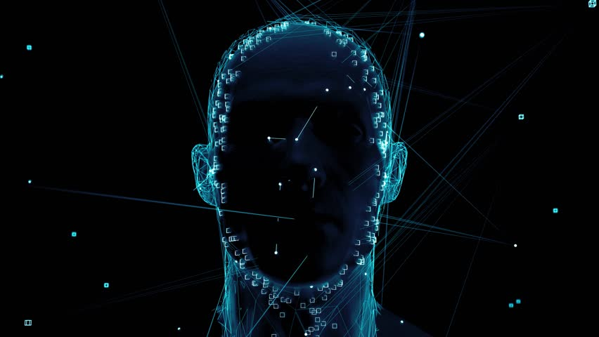 3d render of abstract face analysis. Biometric identification scan concept.  Authentication technology.  Royalty-Free Stock Footage #1027726715