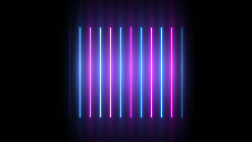 Neon background. Purple and blue neon background appears and disappears. Bright live neon background. Ver.No 2. 4k. See other versions in my portfolio | Shutterstock HD Video #1027757474