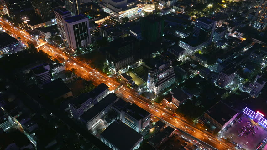 Time lapse of busy highway in Bangkok, Thailand | Shutterstock HD Video #1027772771
