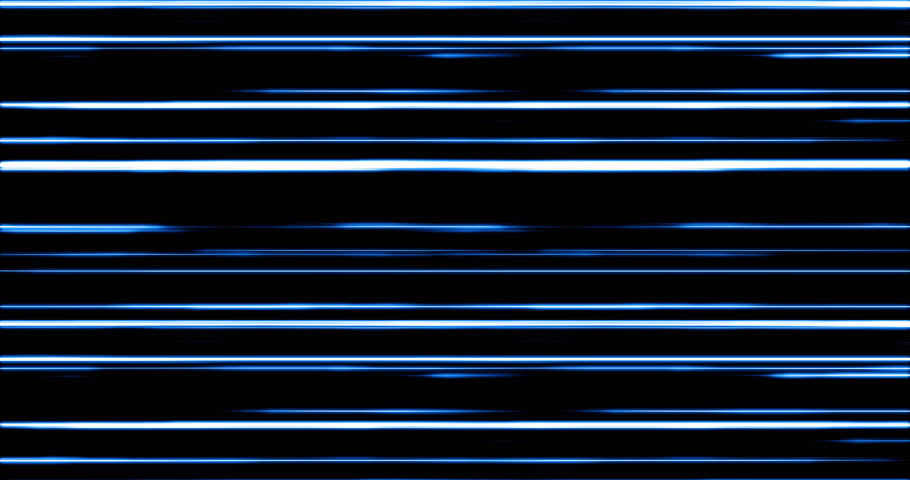 Futuristic digital blue light lines moving from left to right. | Shutterstock HD Video #1027776368