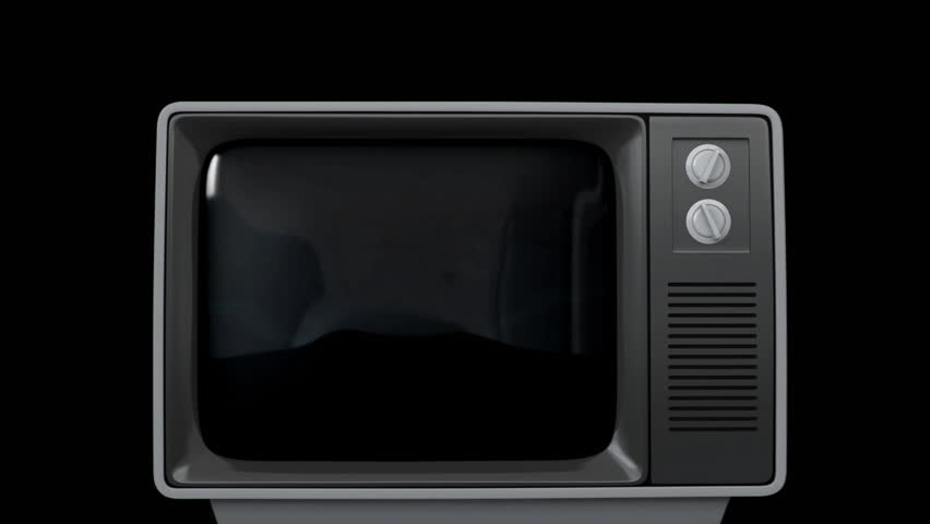 Digitally generated animation of old television showing a video of a static and then glowing thunder-like lines | Shutterstock HD Video #1027797143