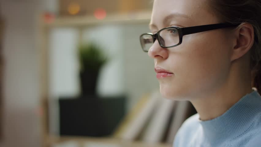 Young pretty woman thinking of something | Shutterstock HD Video #1027803341